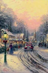 Thomas Kinkade Village Christmas Cards, Box of 18