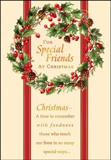 For Special Friends Christmas Cards, Box of 18