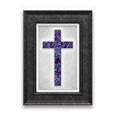 Blue and Violet Framed Cross
