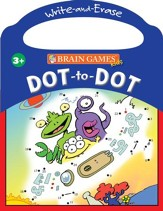 Brain Games Dot-to-Dot: Write & Erase Book