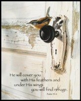 You Will Find Refuge, Doorknob, Wall Art