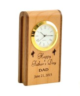 Personalized, Father's Day Wooden Clock