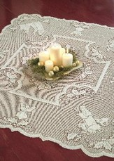 Lace Table Topper, Silent Night, White