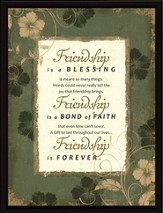 Friendship is a Blessing Plaque
