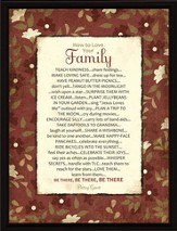 How to Love Your Family Plaque