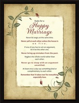 Rules for a Happy Marriage Plaque
