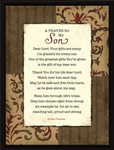 A Prayer for My Son Plaque
