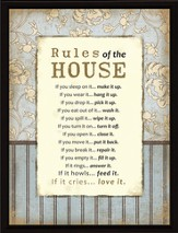 Rules of the House Plaque