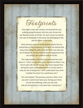 Footprints Plaque