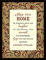 May This Home Be Blessed Framed Plaque, Gift Boxed