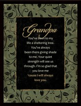 Grandpa Framed Plaque, Gift Boxed