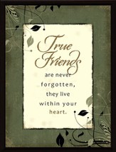 True Friends are Not Forgotten Framed Plaque, Gift Boxed