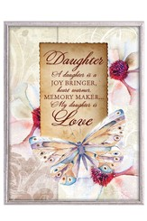Daughter, Butterfly Plaque