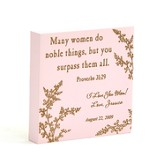 Personalized, Pink Magnet, Many Women Do Noble Things