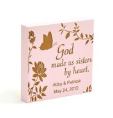 Personalized, Pink Magnet, Sisters By Heart