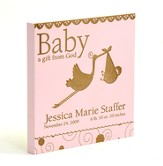 Personalized, Baby A Gift From God Square Plaque, Pink