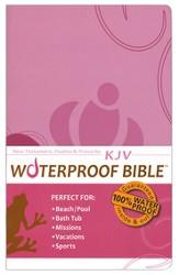 KJV Waterproof Bible New Testament with Psalms & Proverbs, Pink/Brown Floral