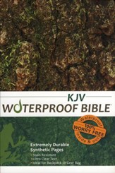 KJV Waterproof Bible, Camouflage - Imperfectly Imprinted Bibles