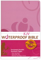 KJV Waterproof Bible, Pink/Brown Floral