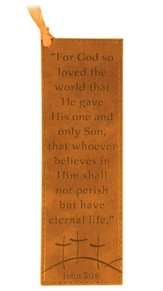 John 3:16 Leather Bookmark