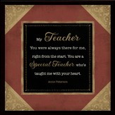 My Special Teacher Framed Plaque, Gift Boxed