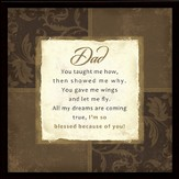Dad You Taught Me Framed Plaque, Gift Boxed