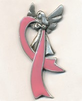 Pink Ribbon, Celebrate Life, Lapel Pin