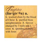 Forgiven Definition Print, 12 Square