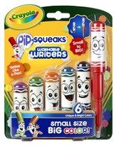 Crayola, Washable Writer Markers, 6 Pieces
