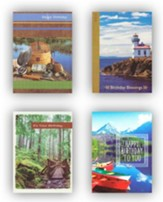 Woods and Water, Birthday Cards, Box of 12