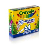 Crayola, Skinny Washable Markers, 64 Pieces