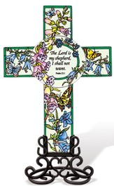 The Lord is My Shepherd Cross Suncatcher