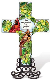 He Who Promised is Faithful Cross Suncatcher