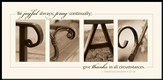 Alphabet Print, Pray, I Thessalonians 5:16-18, Mounted Print