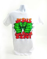 Smash Sin Shirt, White, Large