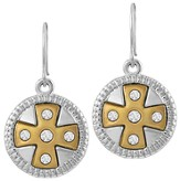 Cross Earrings, Gold