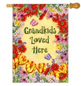 Grandkids Loved Here Flag, Large