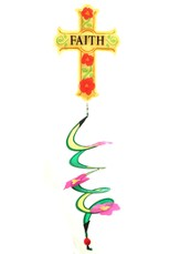 Faith Cross Applique Wind Spinner