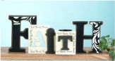 Faith Cut Out Word with Tea Light Holder