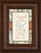 Friends are a Gift From God Mini Framed Print