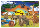 Savannah Adventure Floor Puzzle, 48 Pieces