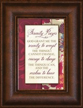 Serenity Prayer Mini Framed Print