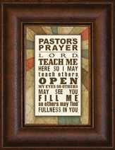 Pastor's Prayer, Mini Framed Print