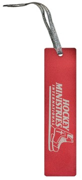 Hockey Ministries International Bookmark, Red