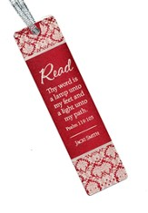 Personalized, Thy Word Aluminum Bookmark, Red