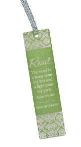 Personalized, Thy Word Aluminum Bookmark, Green