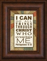 I Can Do All Things Mini Framed Print