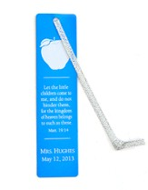Personalized, Aluminum Bookmark, Teachers, Blue