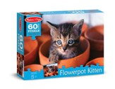 Flowerpot Kitten Jigsaw Puzzle, 60 Pieces