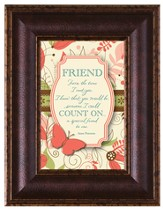 Friend, From the Time I Met You Framed Art